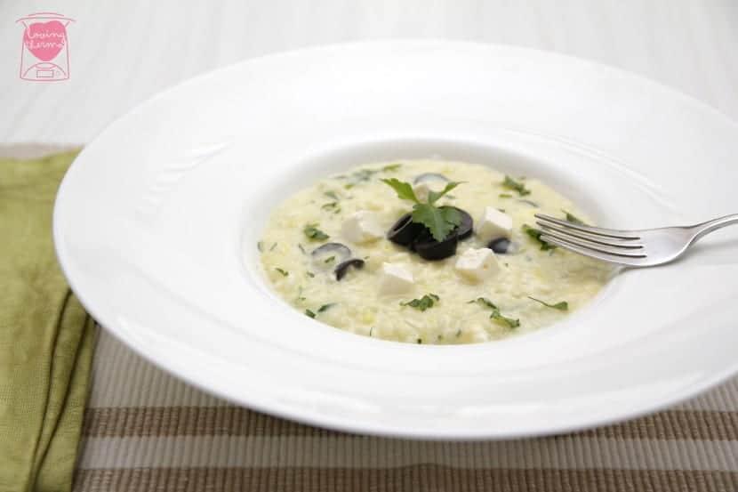 Greek yogurt risotto